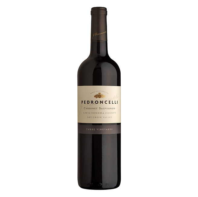 Pedroncelli Cabernet Sauvignon Three Vineyards 2015
